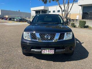 2011 Nissan Navara D40 MY11 RX (4x2) Black 6 Speed Manual Dual Cab Pick-up