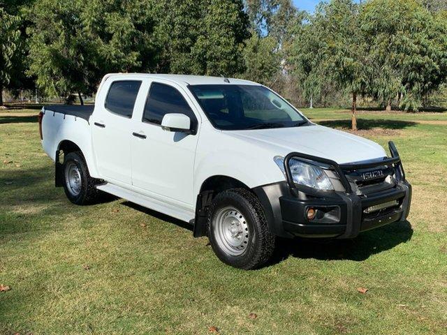 Used Isuzu D-MAX MY15 SX Crew Cab Wodonga, 2015 Isuzu D-MAX MY15 SX Crew Cab White 5 Speed Sports Automatic Utility
