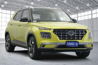 2020 Hyundai Venue QX.2 MY20 Elite Acid Yellow 6 Speed Automatic Wagon.