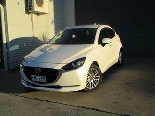 2020 Mazda 2 DJ2HAA G15 SKYACTIV-Drive Evolve White 6 Speed Sports Automatic Hatchback.