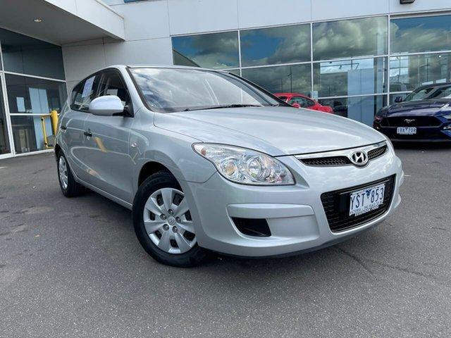 Used Hyundai i30 FD MY10 SX Essendon Fields, 2010 Hyundai i30 FD MY10 SX Silver 4 Speed Automatic Hatchback