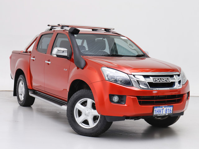 Used Isuzu D-MAX TF MY15 LS-Terrain HI-Ride (4x4), 2015 Isuzu D-MAX TF MY15 LS-Terrain HI-Ride (4x4) Red 5 Speed Automatic Crew Cab Utility