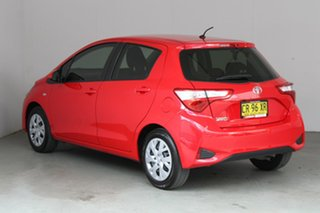 2018 Toyota Yaris NCP130R Ascent Red 5 Speed Manual Hatchback.