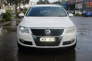 2008 Volkswagen Passat 3C MY09 Upgrade 125 TDI White 6 Speed Direct Shift Wagon.