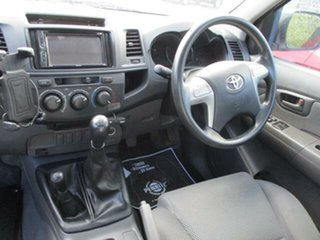 2013 Toyota Hilux KUN26R Turbo SR 4x4 White Manual Cab Chassis
