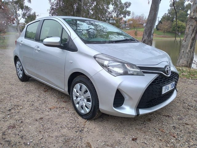 Used Toyota Yaris NCP130R Ascent Wodonga, 2015 Toyota Yaris NCP130R Ascent Silver 4 Speed Automatic Hatchback