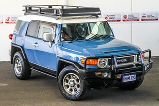 2013 Toyota FJ Cruiser GSJ15R MY14 Military Blue 5 Speed Automatic Wagon.