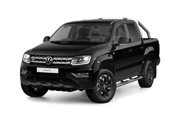 New Volkswagen Amarok 2H MY21 TDI580 4MOTION Perm Highline Tanunda, 2020 Volkswagen Amarok 2H MY21 TDI580 4MOTION Perm Highline Deep Black Pearl Effect 8 Speed