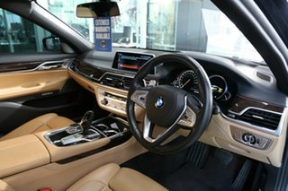 2016 BMW 7 Series G11 740i Steptronic Black 8 Speed Sports Automatic Sedan.