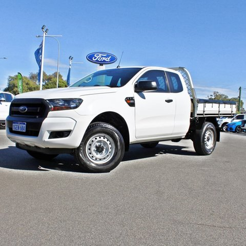 Used Ford Ranger PX MkII XL Hi-Rider Midland, 2016 Ford Ranger PX MkII XL Hi-Rider White 6 Speed Sports Automatic Cab Chassis