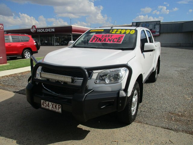 Used Holden Colorado RG MY13 LX Crew Cab 4x2 North Rockhampton, 2012 Holden Colorado RG MY13 LX Crew Cab 4x2 White 6 Speed Sports Automatic Utility