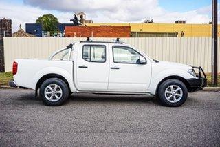 2013 Nissan Navara D40 S6 MY12 ST White 5 Speed Sports Automatic Utility.