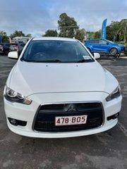 2013 Mitsubishi Lancer CJ MY13 VR-X Sportback White 6 Speed Constant Variable Hatchback.