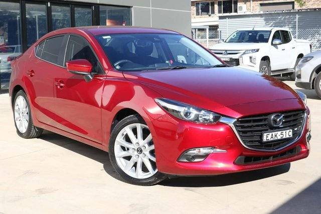 Used Mazda 3 BN5236 SP25 SKYACTIV-MT Tuggerah, 2018 Mazda 3 BN5236 SP25 SKYACTIV-MT Red 6 Speed Manual Sedan