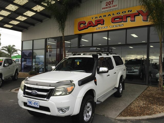 Used Ford Ranger PJ XLT (4x4) Traralgon, 2009 Ford Ranger PJ XLT (4x4) White 5 Speed Automatic Dual Cab Pick-up