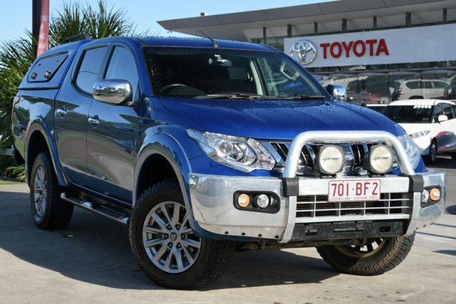 Pre-Owned Mitsubishi Triton MQ MY16 GLS Double Cab North Lakes, 2016 Mitsubishi Triton MQ MY16 GLS Double Cab Blue 5 Speed Sports Automatic Utility