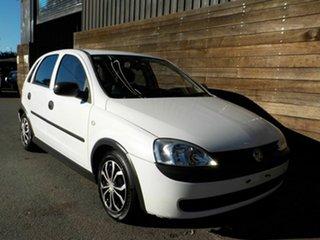 2002 Holden Barina XC White 4 Speed Automatic Hatchback.