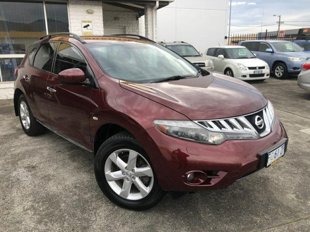 Used Nissan Murano Z51 TI Derwent Park, 2009 Nissan Murano Z51 TI Red/Black 6 Speed Constant Variable Wagon