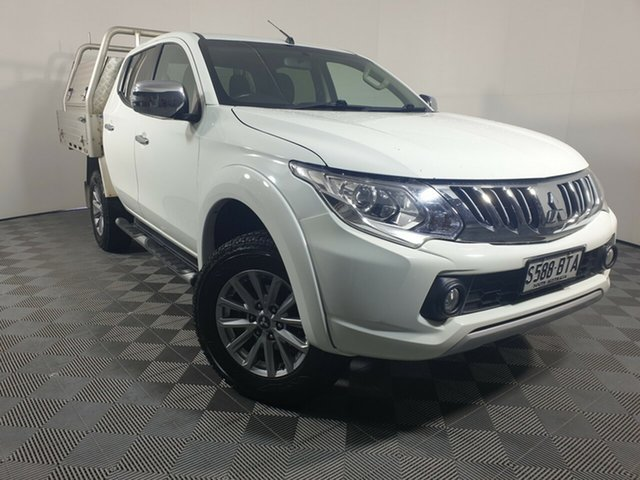 Used Mitsubishi Triton MQ MY16 GLS Double Cab Wayville, 2016 Mitsubishi Triton MQ MY16 GLS Double Cab White 6 Speed Manual Utility
