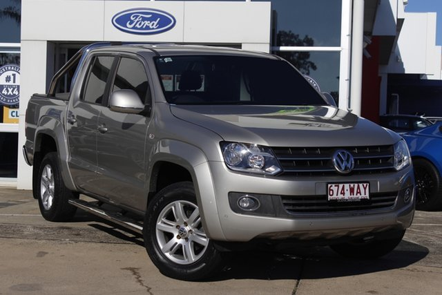 Used Volkswagen Amarok 2H MY15 TDI420 4Motion Perm Highline Beaudesert, 2015 Volkswagen Amarok 2H MY15 TDI420 4Motion Perm Highline Silver 8 Speed Automatic Utility