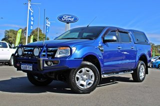 2012 Ford Ranger PX XLT Double Cab 4x2 Hi-Rider Blue 6 Speed Manual Utility.