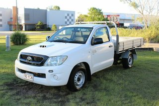 2010 Toyota Hilux KUN16R MY10 SR 4x2 White 5 Speed Manual Cab Chassis.