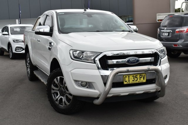 Used Ford Ranger PX MkII XLT Super Cab 4x2 Hi-Rider Tuggerah, 2016 Ford Ranger PX MkII XLT Super Cab 4x2 Hi-Rider White 6 Speed Sports Automatic Utility