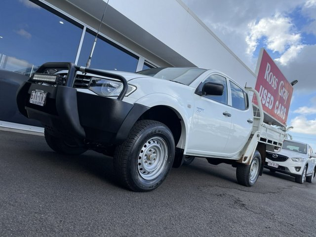 Used Mitsubishi Triton MN MY13 GLX Double Cab Bundaberg, 2012 Mitsubishi Triton MN MY13 GLX Double Cab White 5 Speed Manual Utility