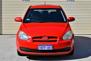 2008 Hyundai Accent MC MY07 SLX Red 5 Speed Manual Hatchback.