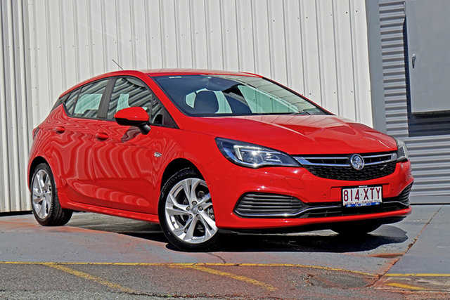Used Holden Astra BK MY17 RS Springwood, 2017 Holden Astra BK MY17 RS Red 6 Speed Sports Automatic Hatchback