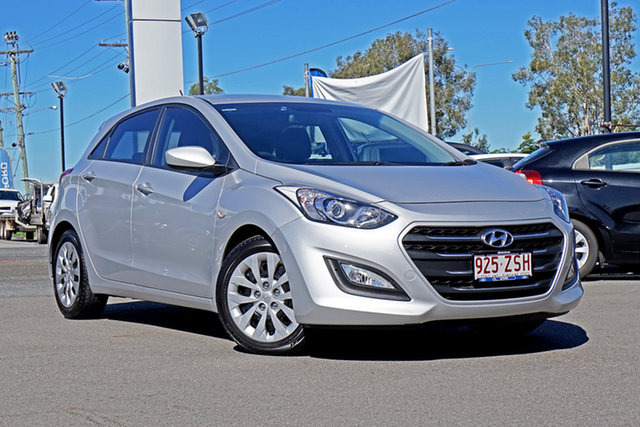 Used Hyundai i30 GD4 Series II MY17 Active Springwood, 2016 Hyundai i30 GD4 Series II MY17 Active Grey 6 Speed Sports Automatic Hatchback