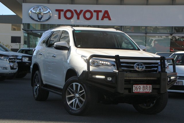 Pre-Owned Toyota Fortuner GUN156R Crusade Upper Mount Gravatt, 2019 Toyota Fortuner GUN156R Crusade Crystal Pearl 6 Speed Automatic Wagon