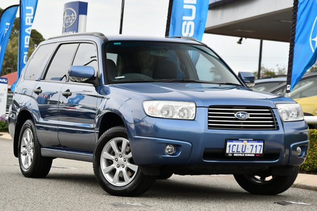 Used Subaru Forester 79V MY07 XS AWD Melville, 2007 Subaru Forester 79V MY07 XS AWD Newport Blue Pearl 4 Speed Automatic Wagon