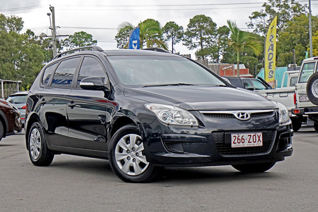 Used Hyundai i30 FD MY09 SX cw Wagon Chandler, 2009 Hyundai i30 FD MY09 SX cw Wagon Black Pearl 4 Speed Automatic Wagon