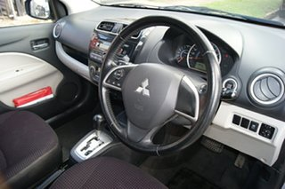 2013 Mitsubishi Mirage LA LS Silver Continuous Variable Hatchback