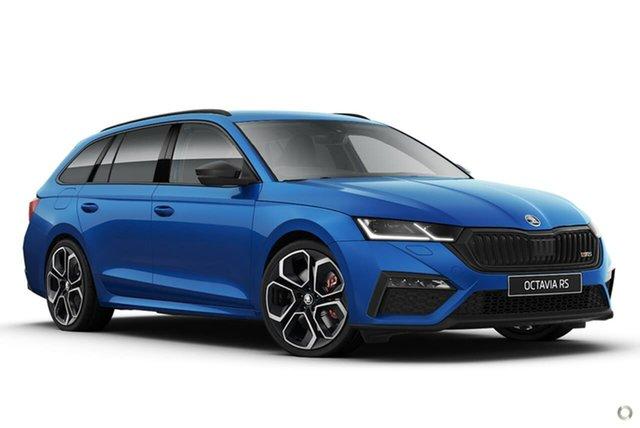 New Skoda Octavia NX MY21 RS DSG Seaford, 2021 Skoda Octavia NX MY21 RS DSG Blue 7 Speed Sports Automatic Dual Clutch Wagon