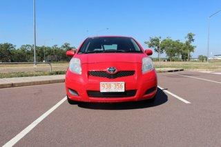 2009 Toyota Yaris NCP90R MY09 YR Cherry 5 Speed Manual Hatchback