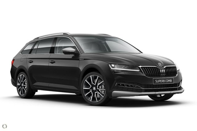 New Skoda Superb NP MY21 200TSI DSG Scout Seaford, 2020 Skoda Superb NP MY21 200TSI DSG Scout Black 7 Speed Sports Automatic Dual Clutch Wagon