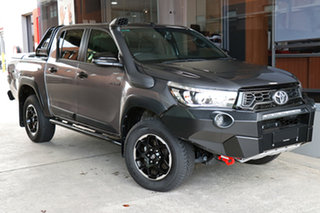 2019 Toyota Hilux GUN126R Rugged X Double Cab Graphite 6 Speed Sports Automatic Utility.