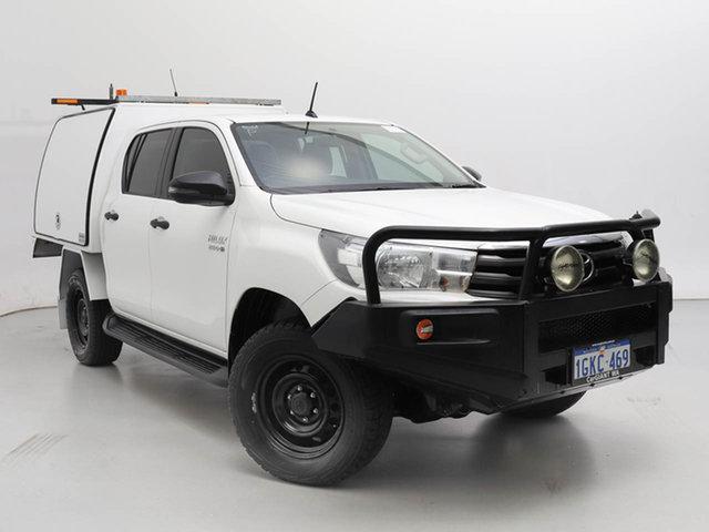 Used Toyota Hilux GUN126R SR (4x4), 2017 Toyota Hilux GUN126R SR (4x4) White 6 Speed Manual Dual Cab Chassis