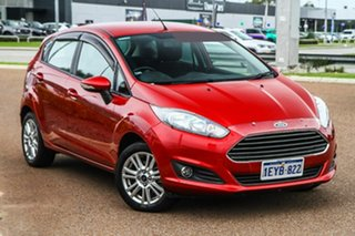 2015 Ford Fiesta WZ MY15 Trend PwrShift Red 6 Speed Sports Automatic Dual Clutch Hatchback.