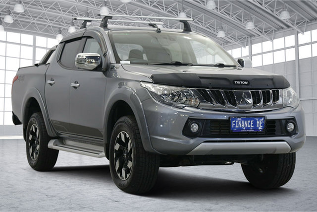 Used Mitsubishi Triton MQ MY18 Exceed Double Cab Victoria Park, 2018 Mitsubishi Triton MQ MY18 Exceed Double Cab Grey 5 Speed Sports Automatic Utility