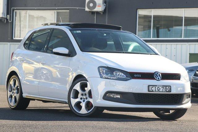 Used Volkswagen Polo 6R MY12.5 GTI DSG Brookvale, 2012 Volkswagen Polo 6R MY12.5 GTI DSG White 7 Speed Sports Automatic Dual Clutch Hatchback