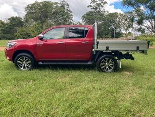 2016 Toyota Hilux GUN126R SR5 (4x4) Olympia Red 6 Speed Automatic Dual Cab Utility