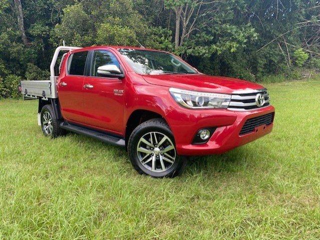 Pre-Owned Toyota Hilux GUN126R SR5 (4x4) Innisfail, 2016 Toyota Hilux GUN126R SR5 (4x4) Olympia Red 6 Speed Automatic Dual Cab Utility