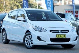 2016 Hyundai Accent RB4 MY17 Active White 6 Speed CVT Auto Sequential Hatchback.