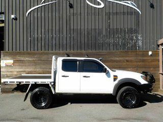 2010 Ford Ranger PK XL Crew Cab White 5 Speed Manual Cab Chassis.