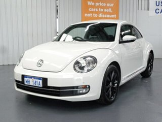 2013 Volkswagen Beetle 1L MY13 Coupe White 6 Speed Manual Liftback.
