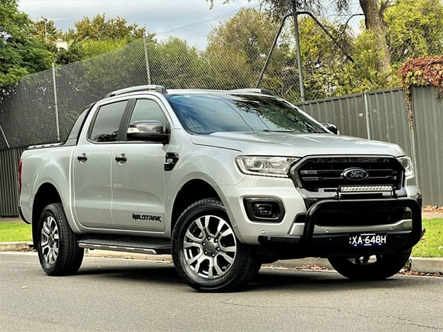 Used Ford Ranger PX MkIII 2019.00MY Wildtrak Hyde Park, 2018 Ford Ranger PX MkIII 2019.00MY Wildtrak Aluminium 6 Speed Sports Automatic Utility