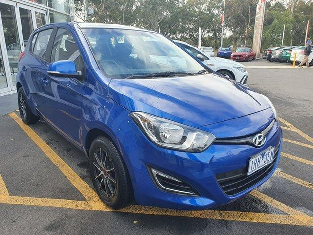 Used Hyundai i20 PB MY14 Active Epsom, 2014 Hyundai i20 PB MY14 Active Blue 4 Speed Automatic Hatchback